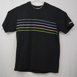 Izod Jeans XL Short Sleeve Shirt Black W/Stripes